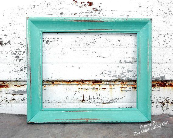 One 8x10 Rustic Frames Wood Distressed Picture Frame Wedding Baby