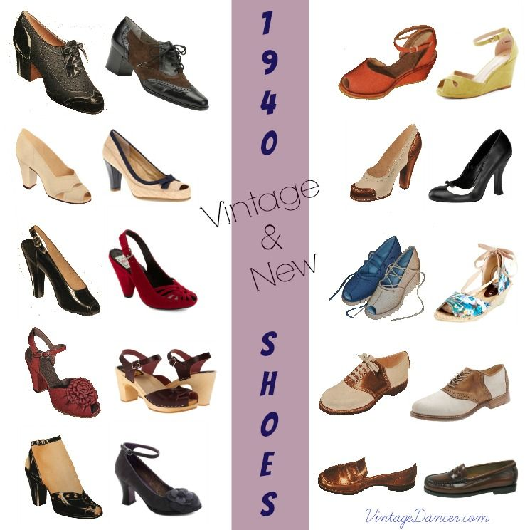 10 Popular 1940s Shoes Styles For Women 1940s Shoes Vintage Shoes Vintage Style Shoes