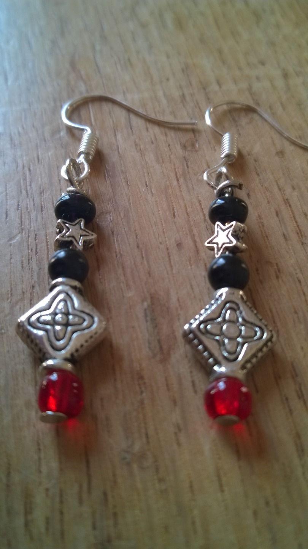 boucles d'oreilles argent et perles de rocailles : Boucles d'oreille par des-filles-et-des-perles