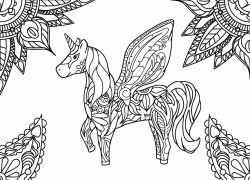 Kostenloses Ausmalbild Einhorn Die Gratis Mandala Malvorlage Einfach Ausdrucken Und Ausmale Horse Coloring Pages Unicorn Coloring Pages Mandala Coloring Pages