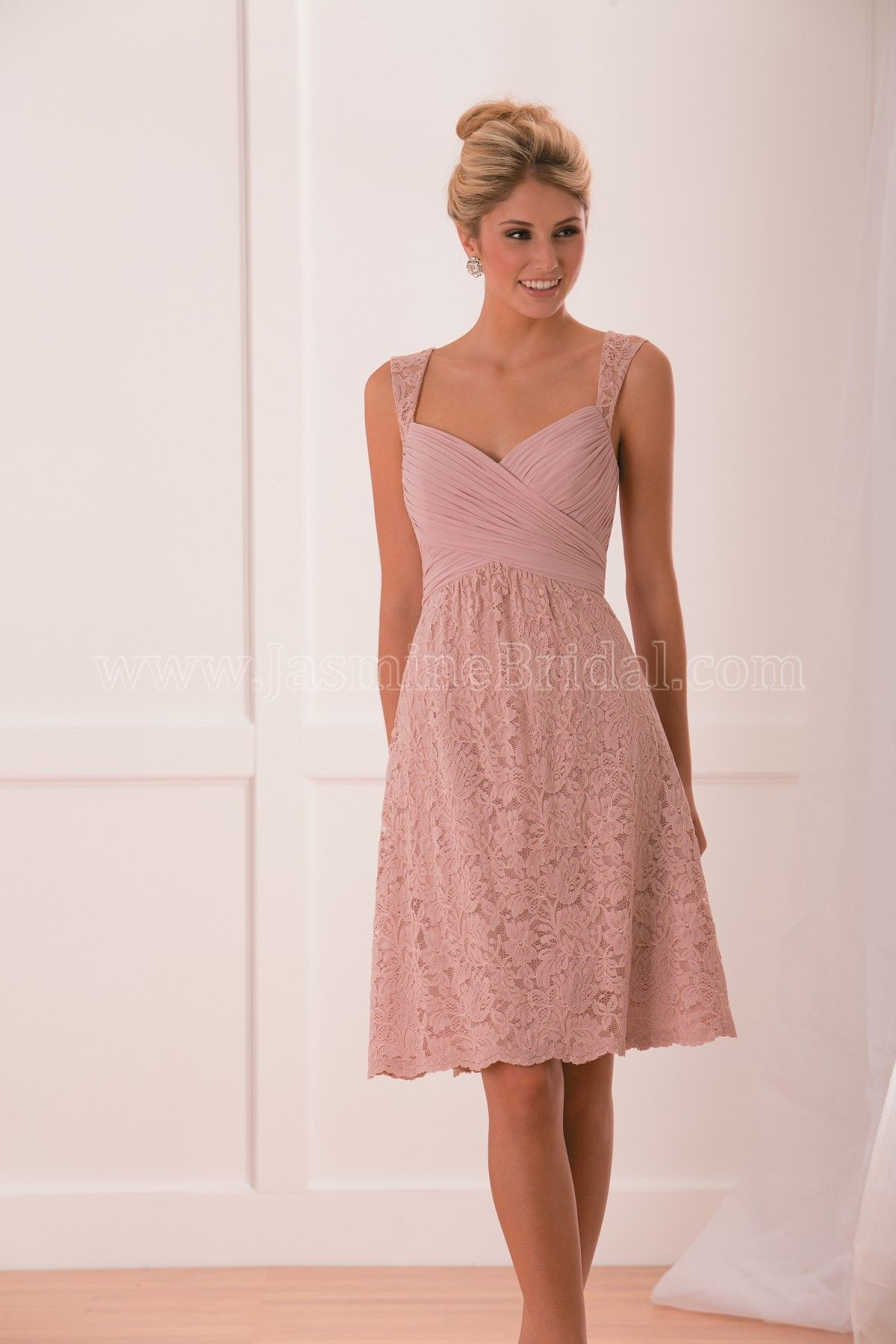 Jasmine Bridal Bridesmaid Dress B2 Style B173010 in Pink. Chic and ...