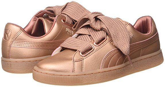 cfeb622b3ce1fd Puma Damen Basket Heart Copper Sneaker