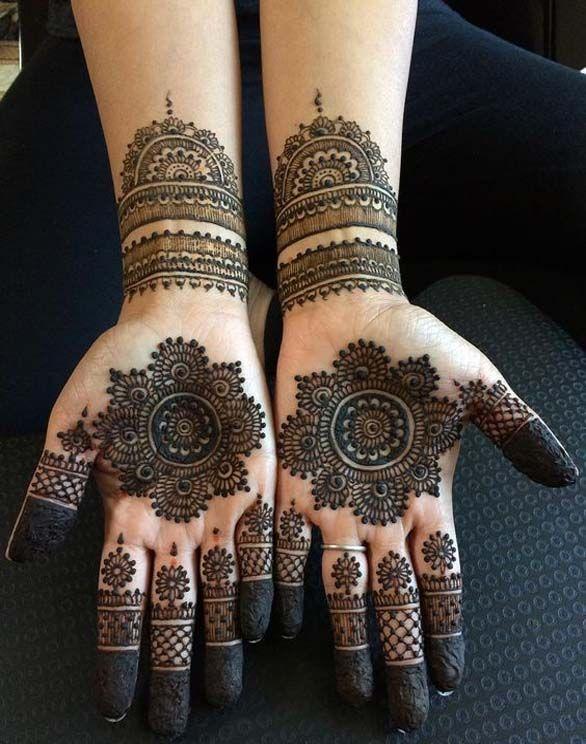 Indian weddings mehndi designs mehandi arabicmehndi bridal handsindian also simple gol tikka for hands in mehendi rh pinterest