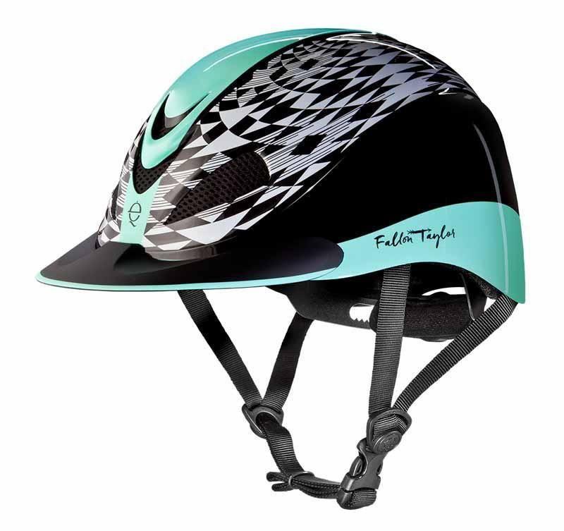 Fallon Taylor Mint Aztec Horseflyveils Harroldboots Lovehorse Saddlepads Saddles Horserugs Tuff Riding Helmets Fallon Taylor Helmet Equestrian Helmet