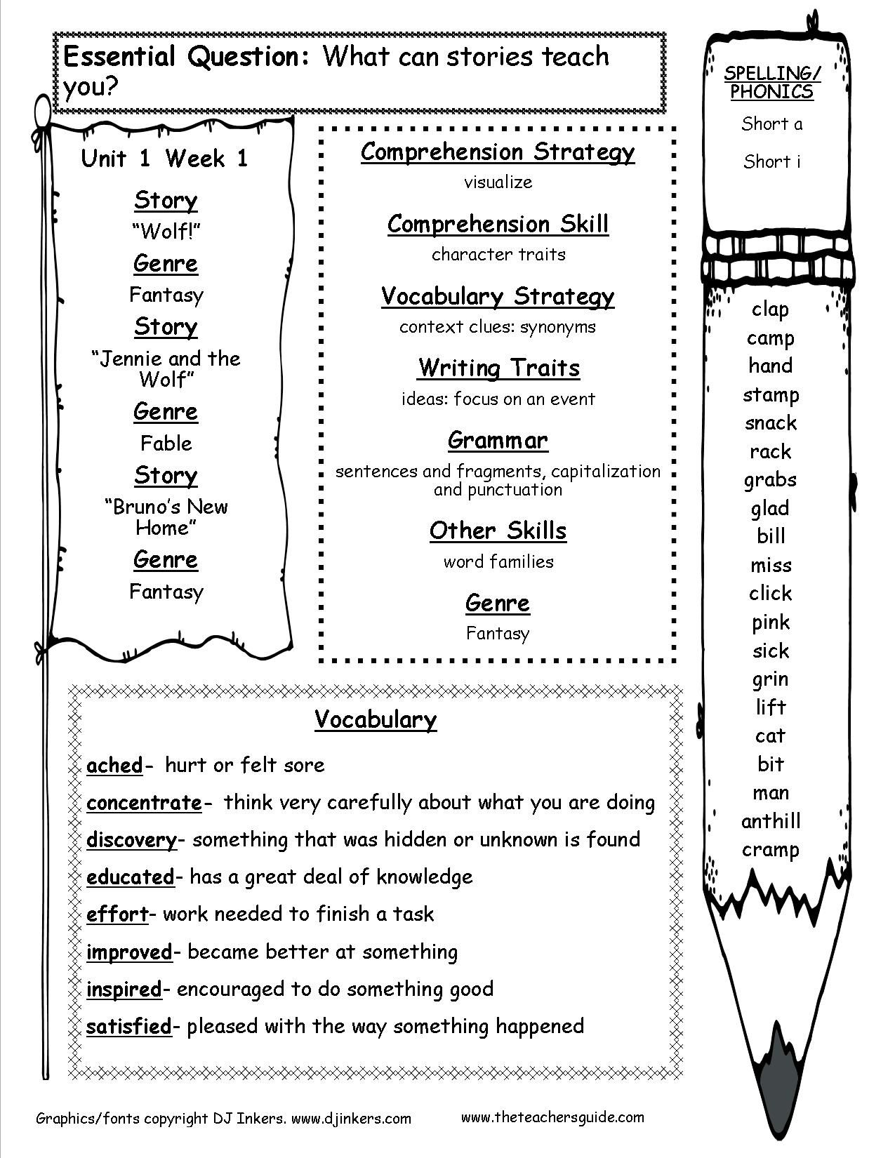 Worksheet 2nd Grade Vocabulary 1000 images about 3rd grade reading on pinterest