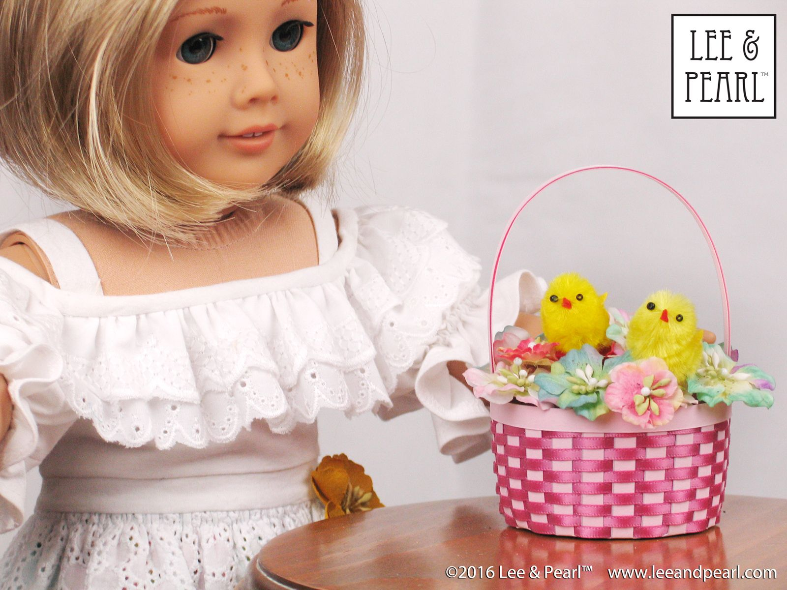 Our American Girl Doll Loves The Easter Basket We Made