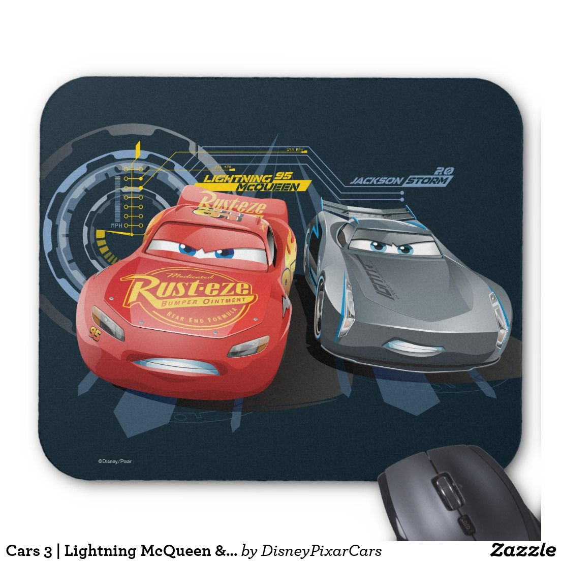 Cars 3 Lightning Mcqueen Jackson Storm Mouse Pad Other Boards