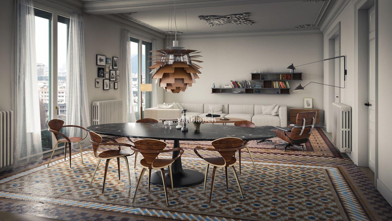 Proyecto de interiorismo de la casa bur s tico - Estudio de interiorismo barcelona ...
