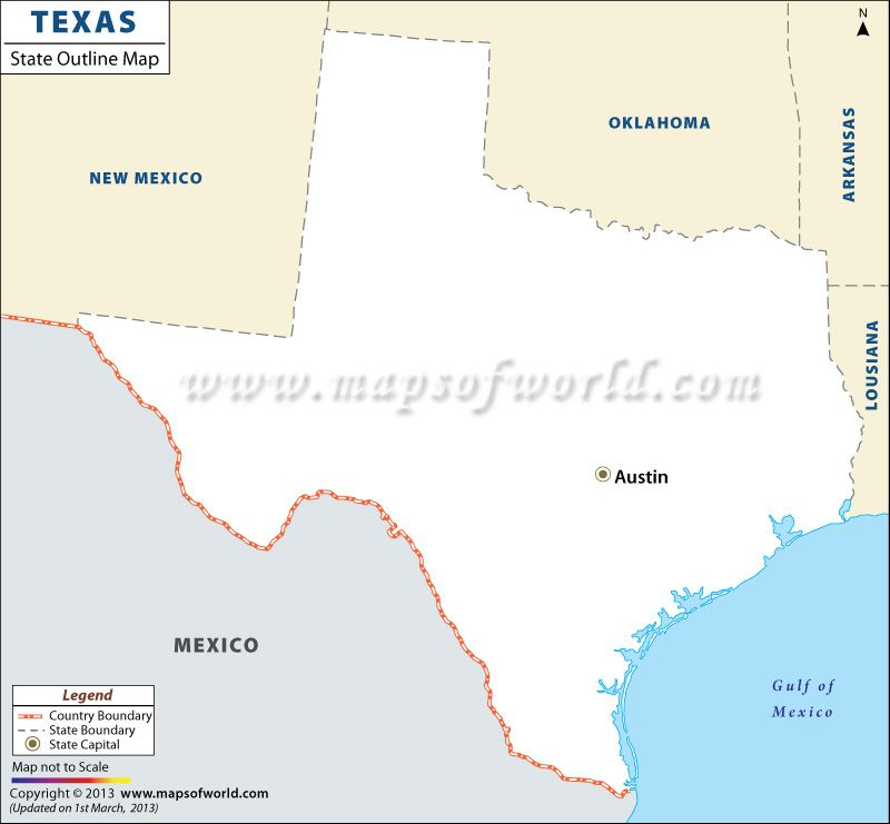 Blank Map Of Texas Map Texas Outline Texas Map