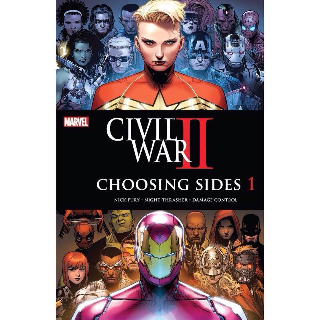 Civil War II: Choosing Sides (2016) #1 (of 6) Written by Chad Bowers Brandon M. Easton Declan Shalvey Chris Sims Art by Paul Davidson Leonardo Romero Declan Shalvey Cover by Jim Cheung If you knew something bad was about to happen would you stop it? How far would you go? The line is drawn. Everyone in the Marvel Universe has to ask themselves: are you with Captain Marvel or Iron Man? Kicking off an all-new series this first issue features Nick Fury Damage Control and Night Thrasher!