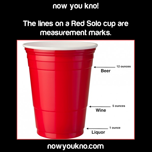 According To Mental Floss Whose Source Was The Makers Of This Cup This Is Completely Untrue P Solo Cup Party Hacks Drinks