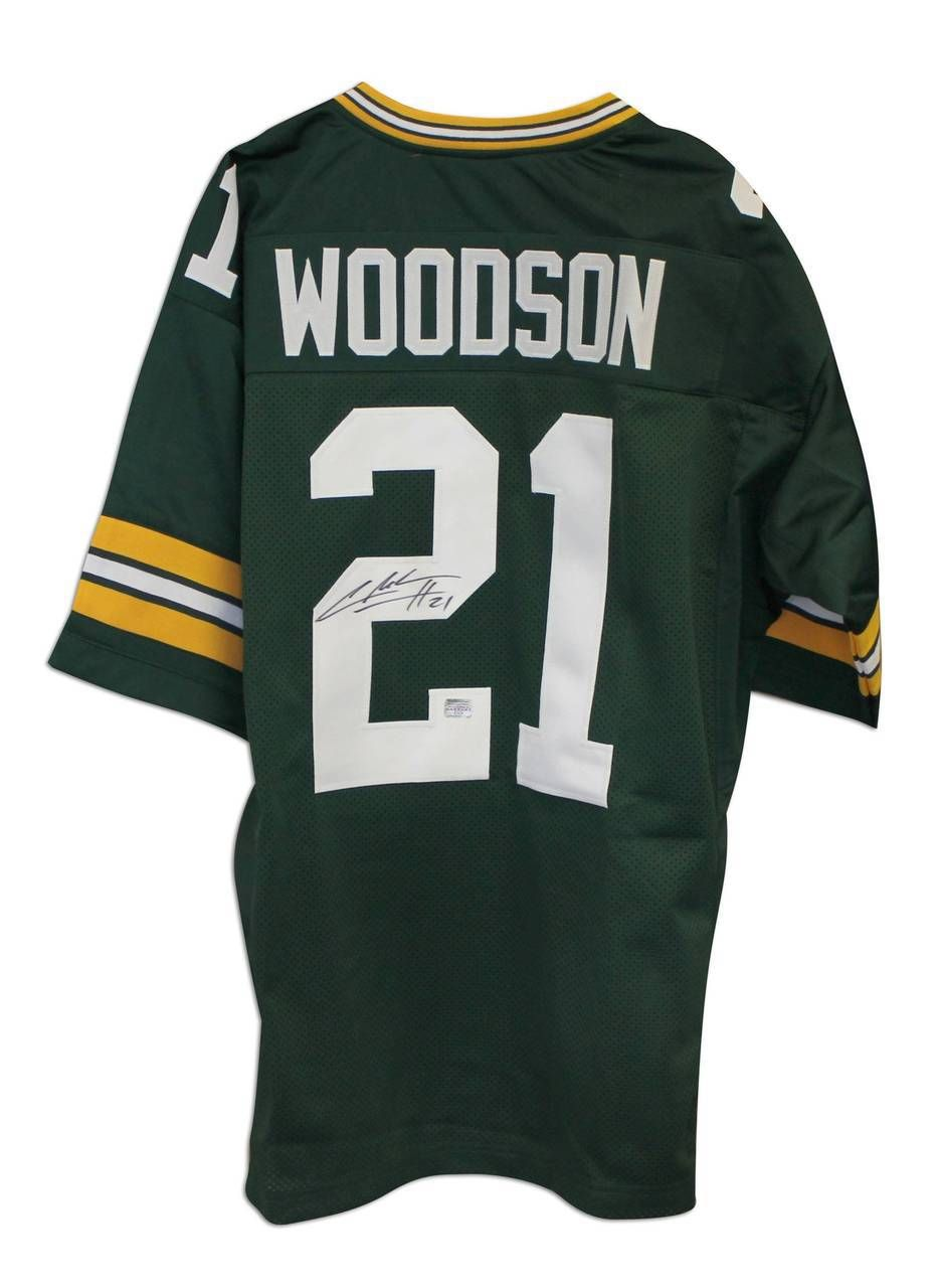 Charles Woodson Green Bay Packers Autographed Green Throwback Jersey Charles Woodson Green Bay Packers Green Bay