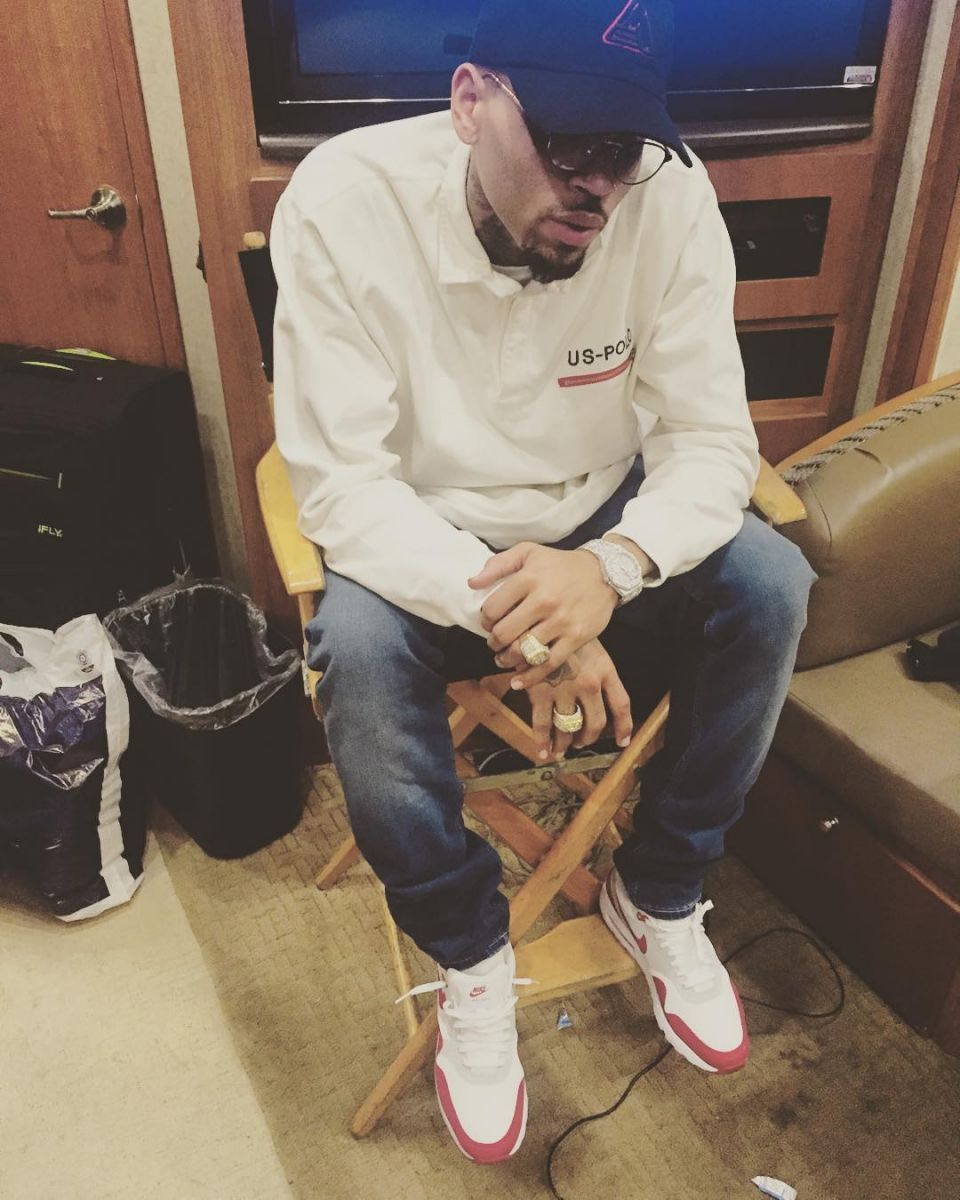 finest selection 91b41 6de95 ... good chris brown wearing the nike air max 1 36065 5c6f1