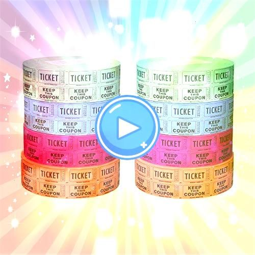 Ticket Company Raffle Tickets 4 Rolls of 2000 Double Tickets 8000 Total 5050  PM Company Admit One Single Ticket Roll Numbered Assorted 2000 TicketsRoll PMC59002 Pink Raf...