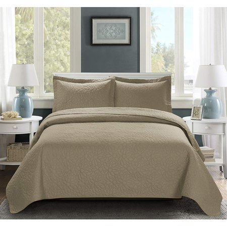Full Queen King 3pc Over Size Embossed Coverlet Bedspread Set New Multi Colors