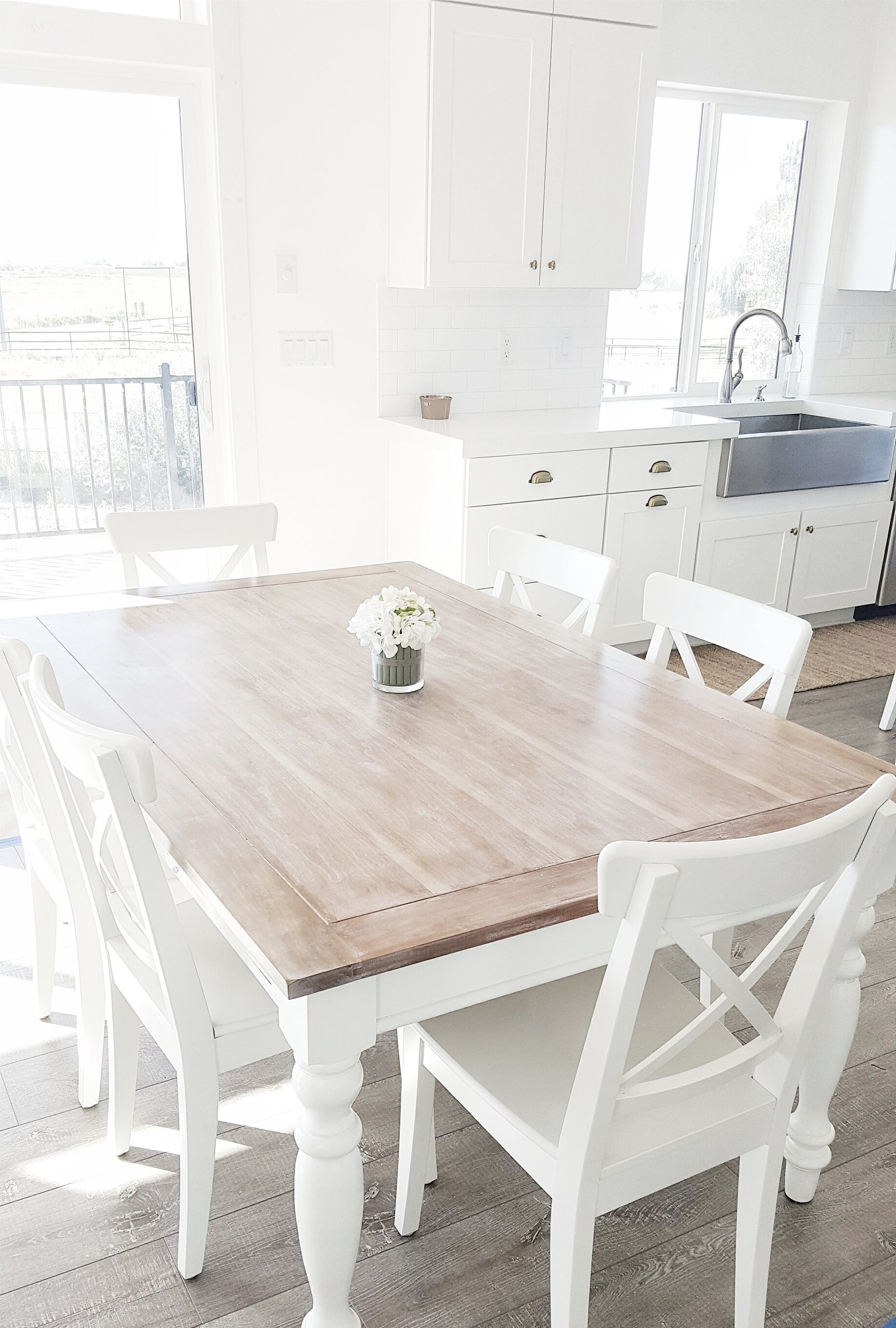 White Wooden Dining Room Chairs