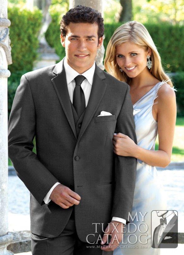 Click to Buy << groom wedding tuxedo charcoal gray suits men ...