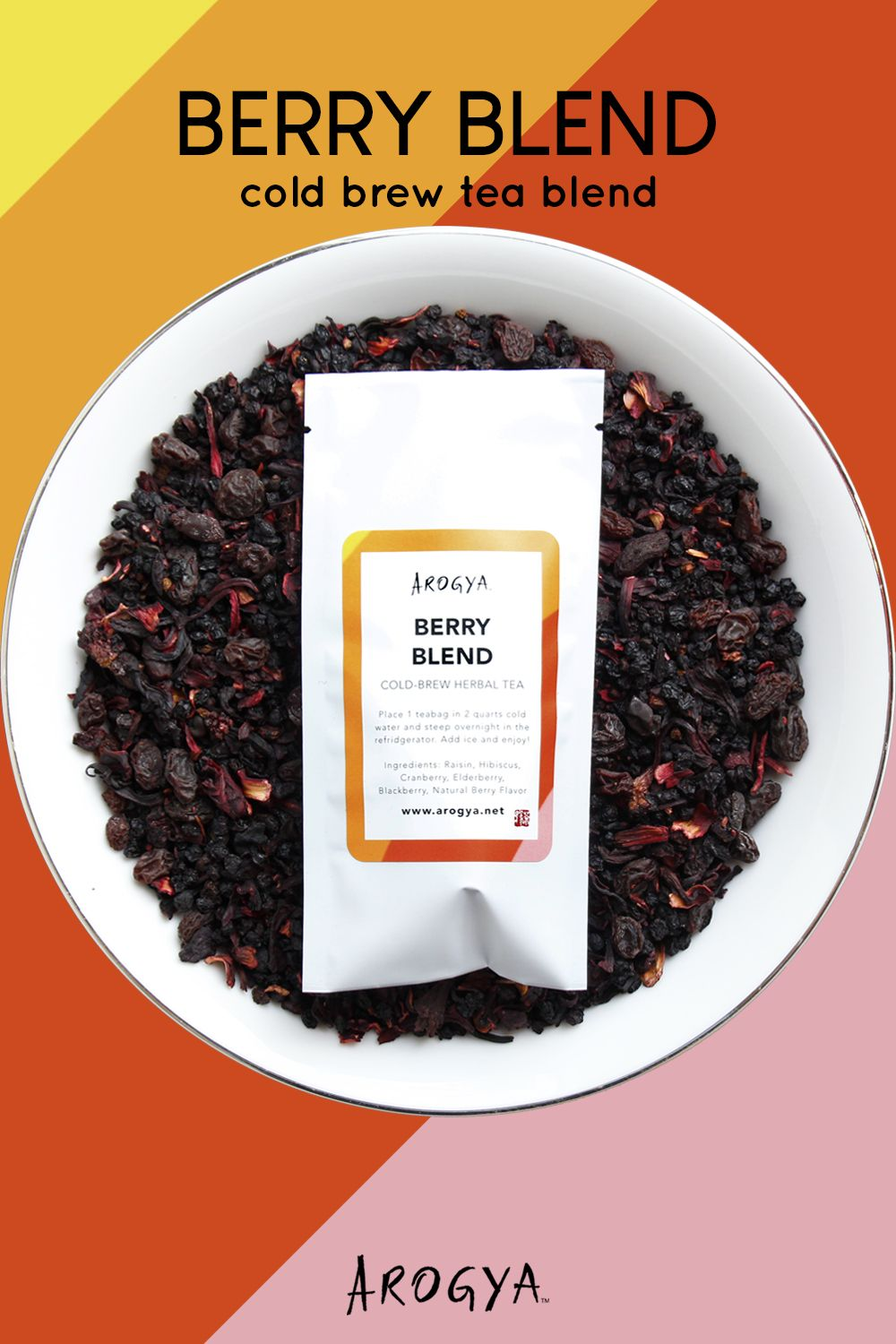 Berry Blend Cold Brew Tea Bags A mouth-watering burst of juicy fruit flavor gives this iced tea high marks with the kids and it packs a powerhouse of nutrients and antioxidants to make it a wholesome treat for anyone to enjoy. Each sachet contains 1/2 ounce of tea and makes 2 quarts of iced tea.