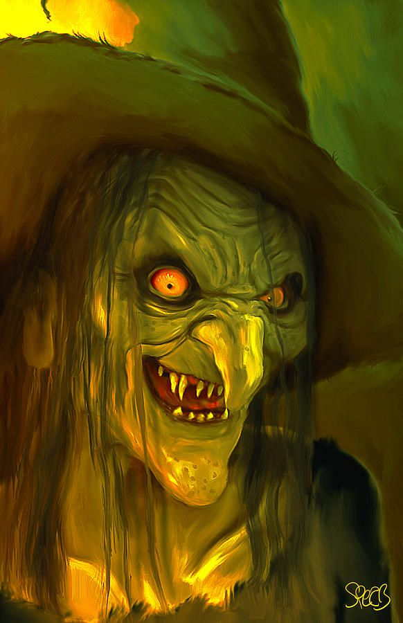 Monsters Painting Witch Hag Mark Spears Monsters By Mark Spears Witch Painting Halloween Painting Scary Paintings