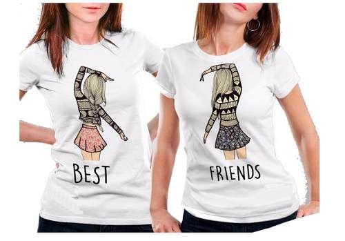 8a8befe64a Blusas Mejores Amigas Best Friends Playera Estampado  393 -   299.00 en  Mercado Libre
