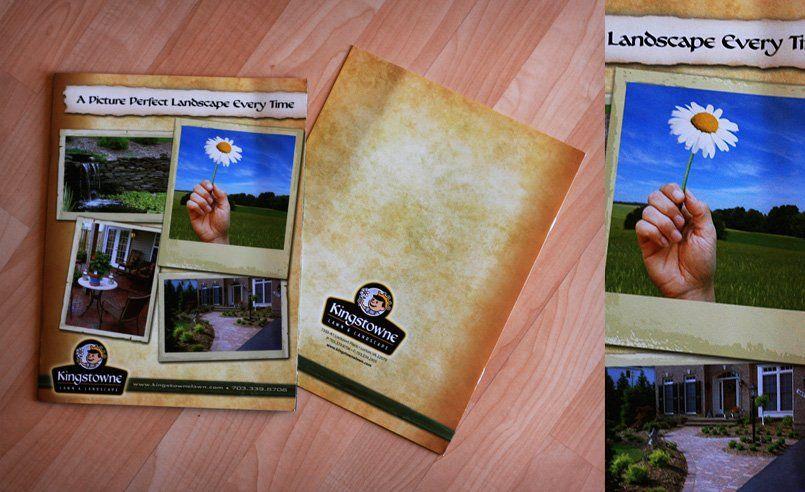 kingstowne landscaping full color four page brochure design