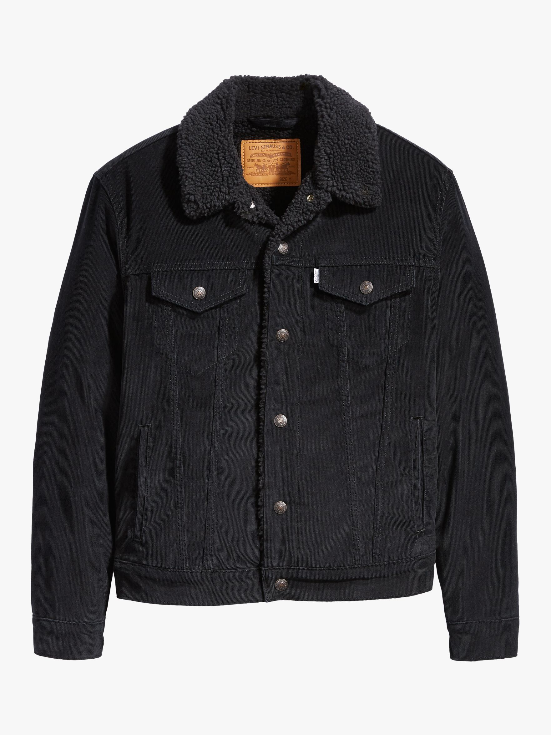Levi's Type 3 Sherpa Trucker Jacket, Black Cord Better in