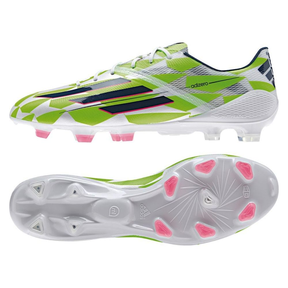 bb8b7f3e9 Get soccer boots that are Supernatural! Adidas F50 adizero (Synthetic) Soccer  Cleats (White/Rich Blue/Solar Green) | Adidas Soccer Cleats |FREE SHIPPING|  ...
