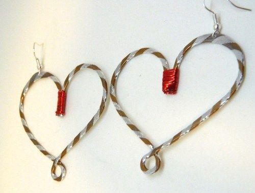 Diamond Cut Aluminum Heart Earrings, Lightweight, Funky and FUN