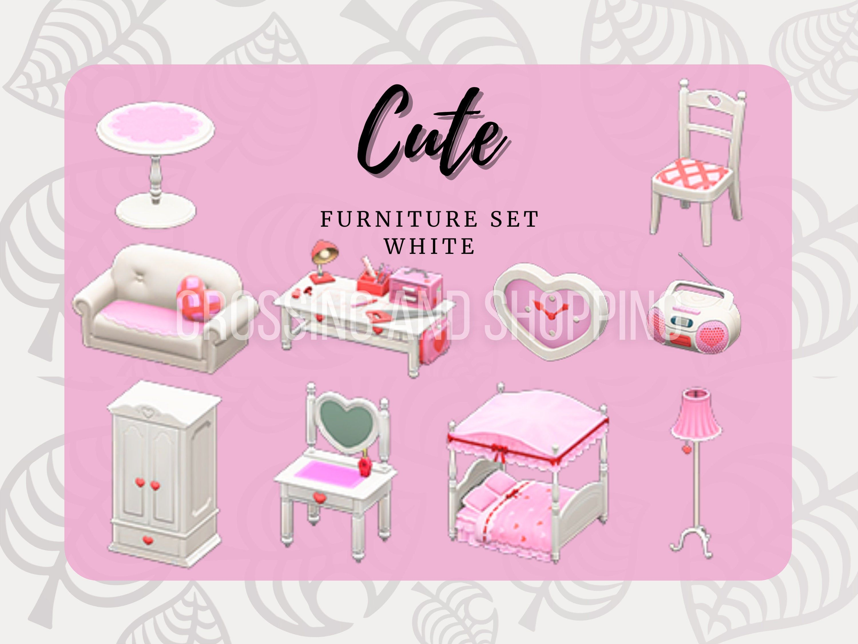 Animal Crossing Acnh Cute Full Furniture Sets All Colors By Crossingandshopping On Etsy Animal Crossing Animal Crossing Game Cute Furniture