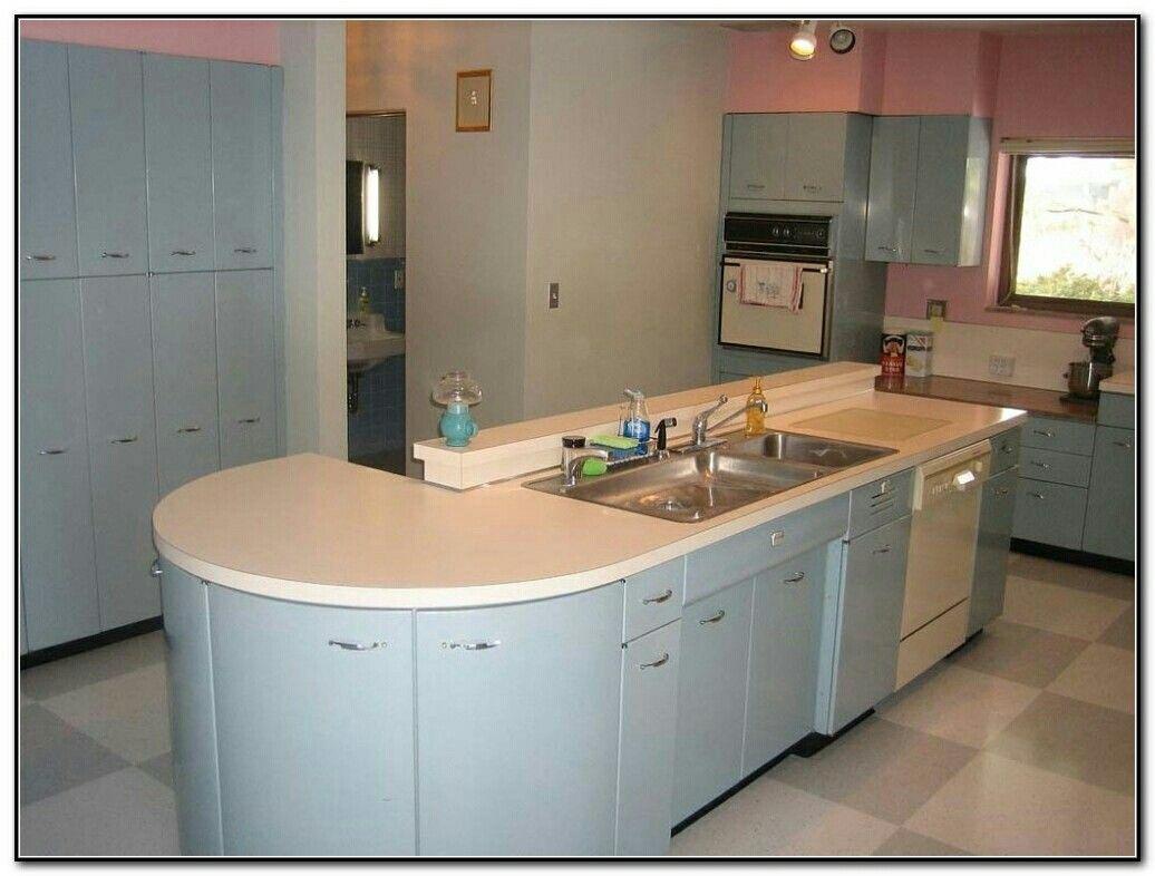 St Charles Kitchen Cabinets Mid Century Modern Kitchen Metal Kitchen Cabinets Kitchen Cabinets