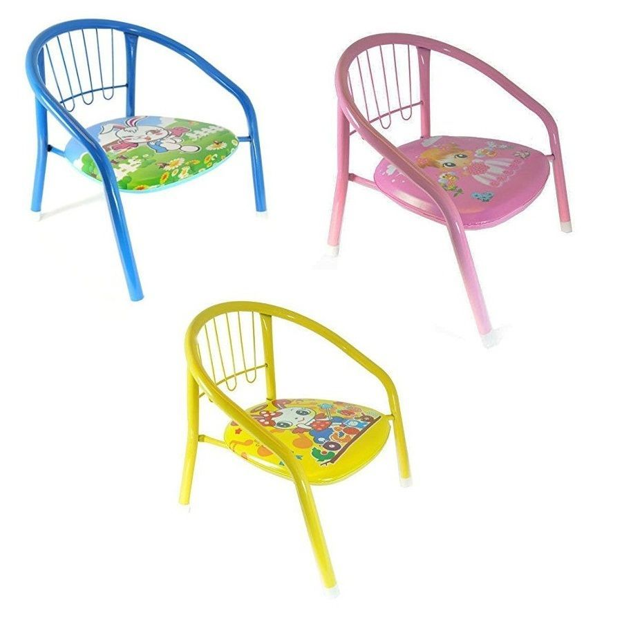 Fabulous Metal Tubes Frame Kids Children Chairs Squeaky Sound Outdoor Caraccident5 Cool Chair Designs And Ideas Caraccident5Info