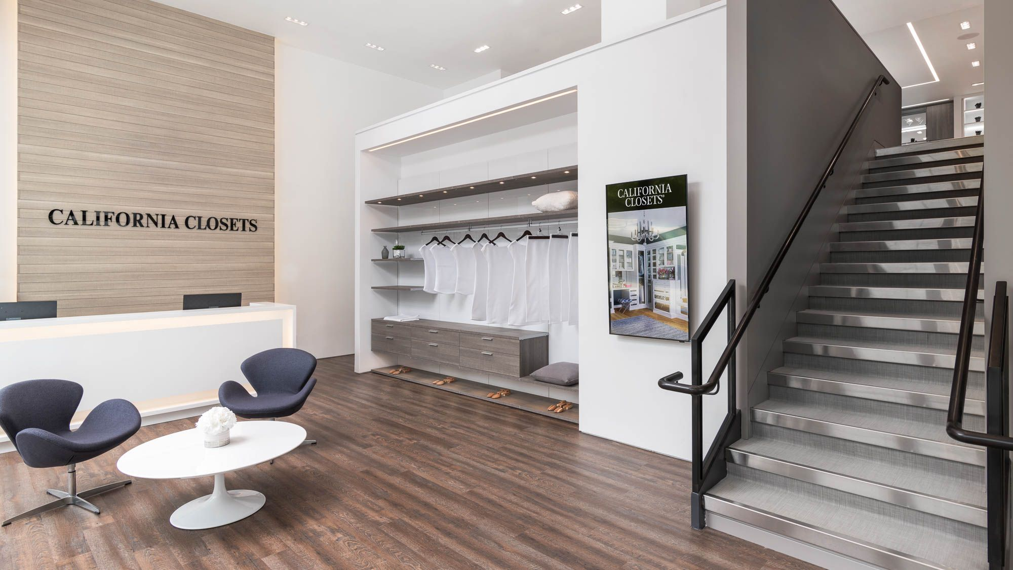 Come Find Inspiration And Meet Our Designers At Our Newly Renovated Tribeca Showroom 2 0 Lo Closet Storage Design California Closets Custom Storage Solutions