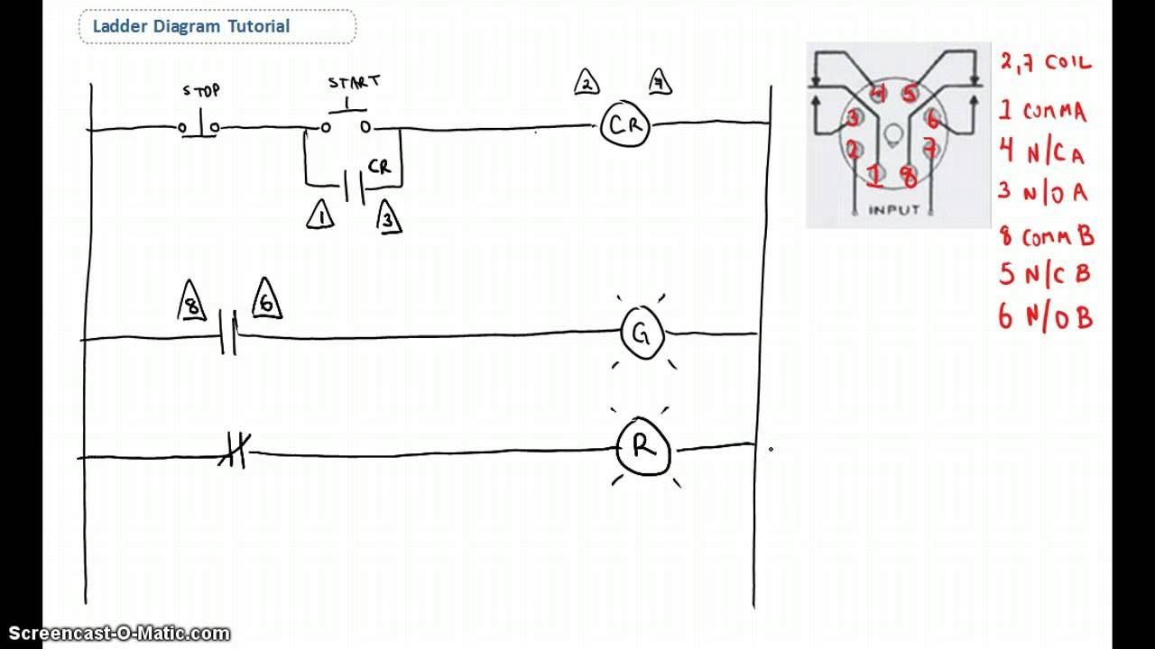 Ladder Diagram Basics #1 | Diagram, Ladder logic, Electrical diagram | Hvac Ladder Wiring Diagram |  | Pinterest