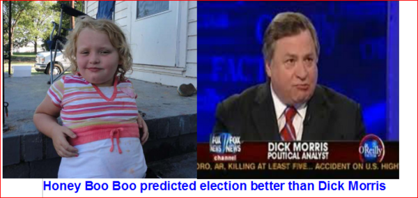 Look who predicted the election better than FOX SPEWS experts? Gotta love Honey Boo Boo