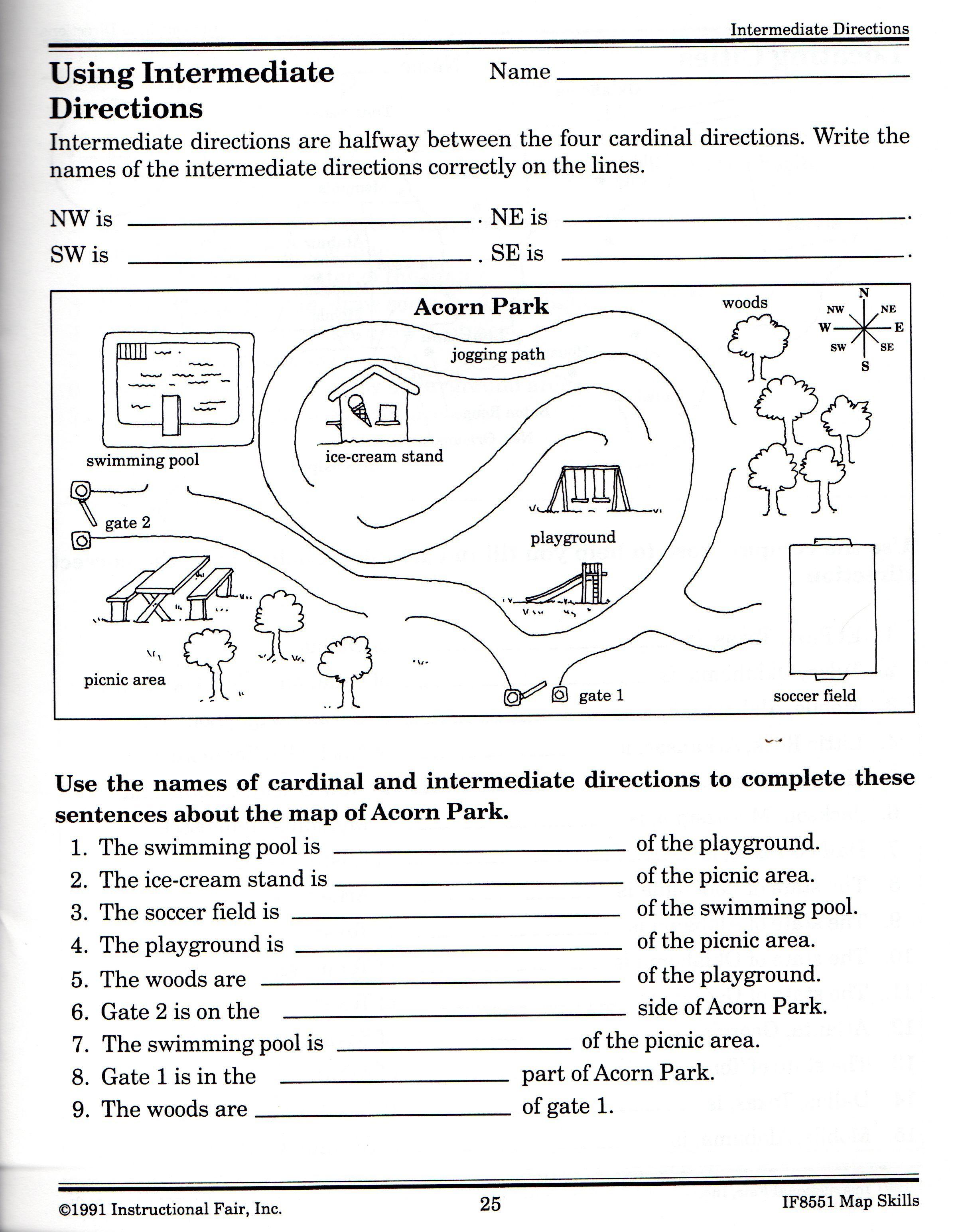 21 Awesome Following Directions Worksheet For You Https Bacamajalah Com 21 Awesome Fol In 2020 Map Skills Worksheets Geography Worksheets Social Studies Worksheets
