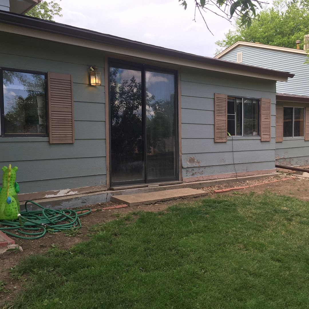Superb A Few Before And After Photos Of A Small Exterior We Just Wrapped Up. On  This Project We Replaced Some Rotted Siding Replaced The Rotted 1x4 Trim  With 1x6 ...