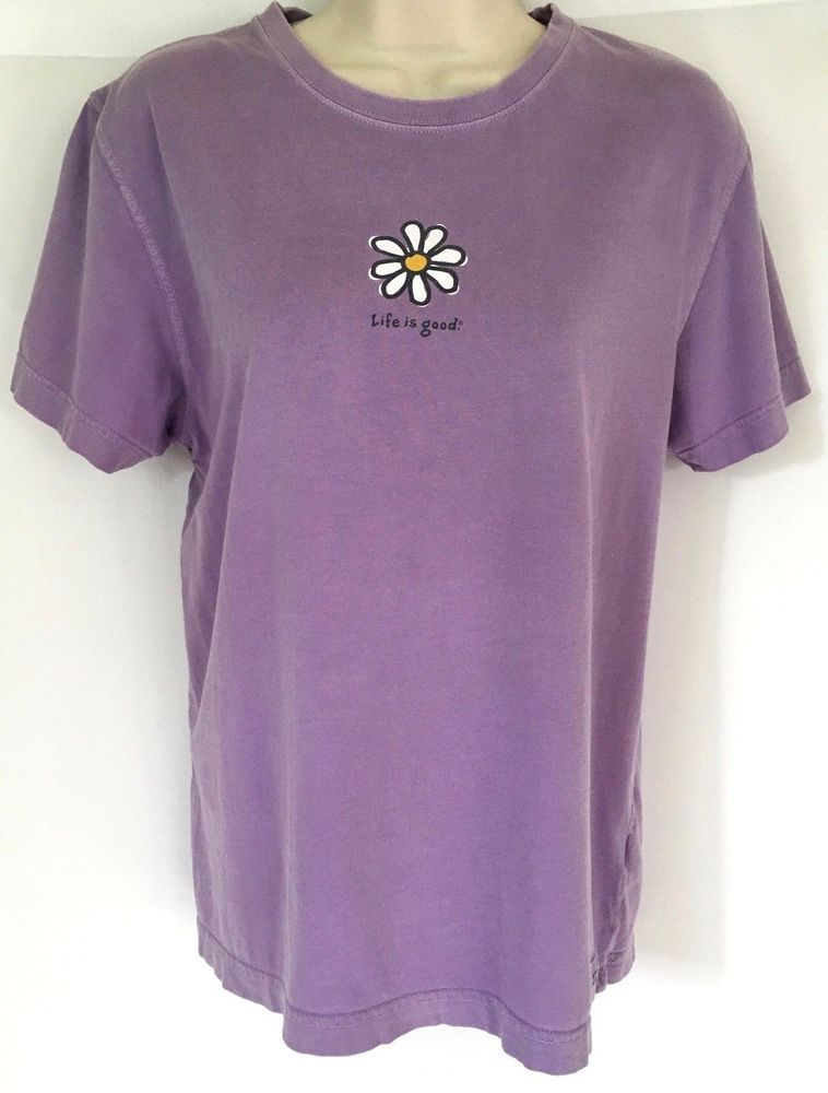 Life is Good Women's size M Short Sleeve Hang Time Relax Tee Shirt