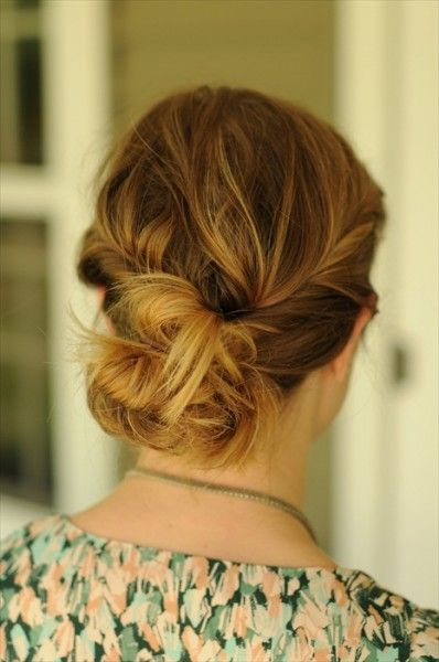 Twisted Messy Bohemian Updo