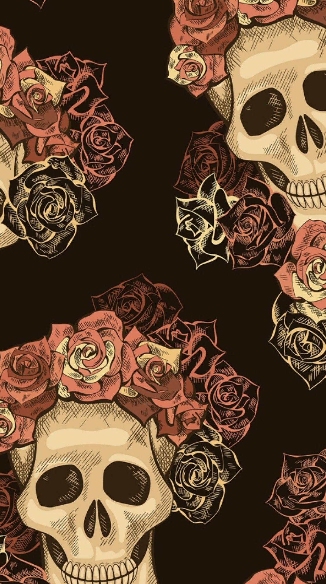 Skulls Wallpaper Witchy Wallpaper Skull Wallpaper Fall Wallpaper
