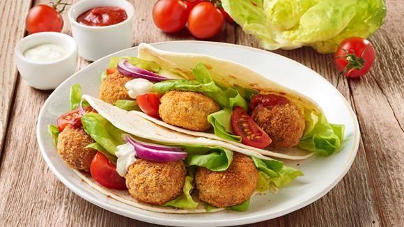 Falafel-Tortilla+Rezept+»+Knorr