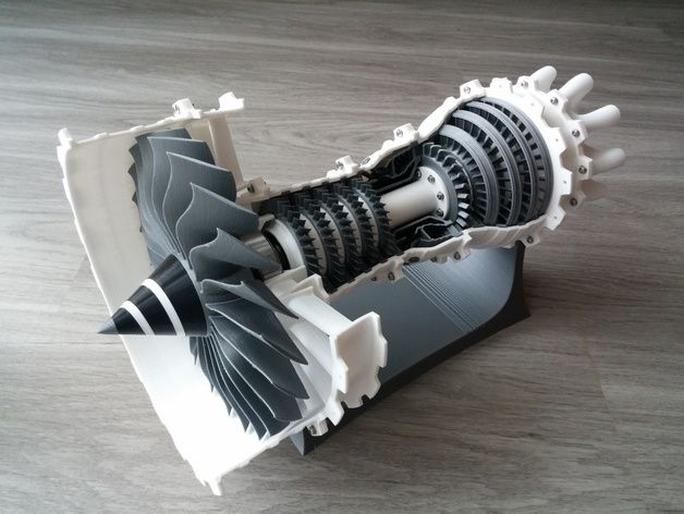 3d Printable Jet Engine By Catiav5ftw Thingiverse 3d Druck