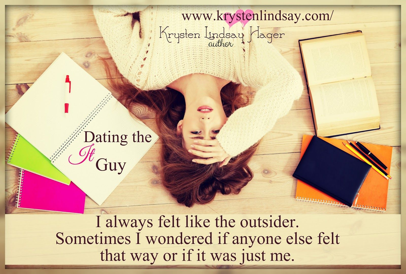 Dating the It Guy by Krysten Lindsay Hager YA contemporary romance Published by Clean Reads Blurb: Emme is a sophomore in high school who starts dating, Brendon Agretti, the popular senior who happ…