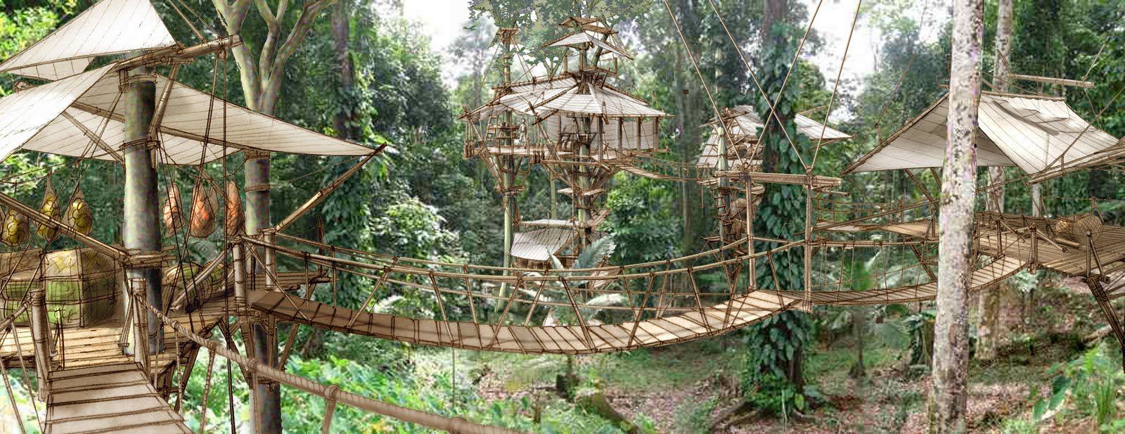Design Of Tree Huts Aka Robinson Crusoe Tv Show My