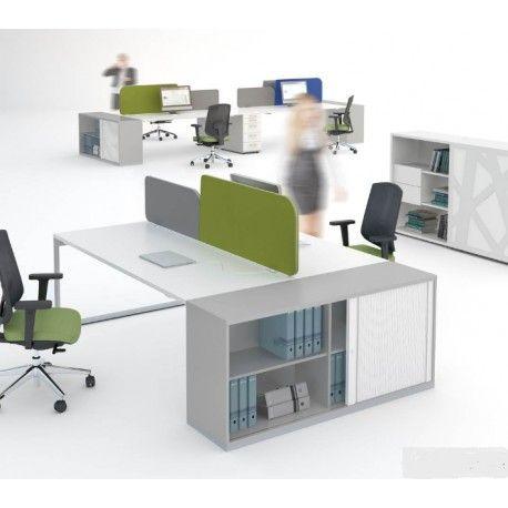 Bureau Bench Ogi Q avec meuble de rangement MDD Bureau bench