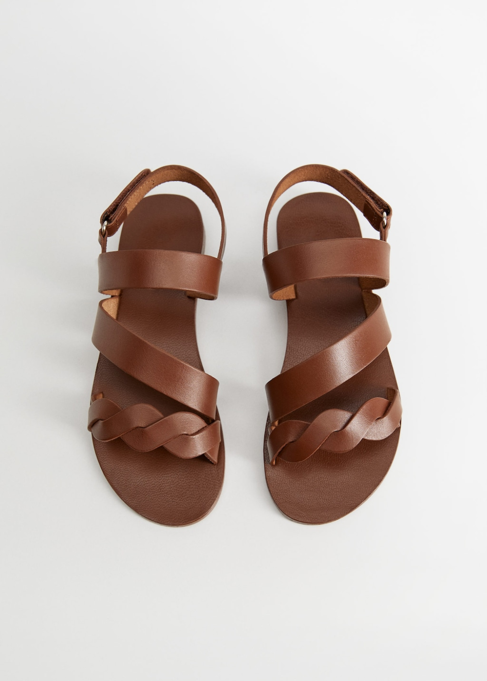 Triple strap leather sandals - Girls