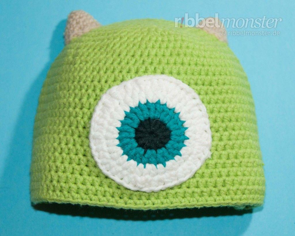 Mütze Häkeln Monster Mike Anleitung Häkelanleitung Crochet
