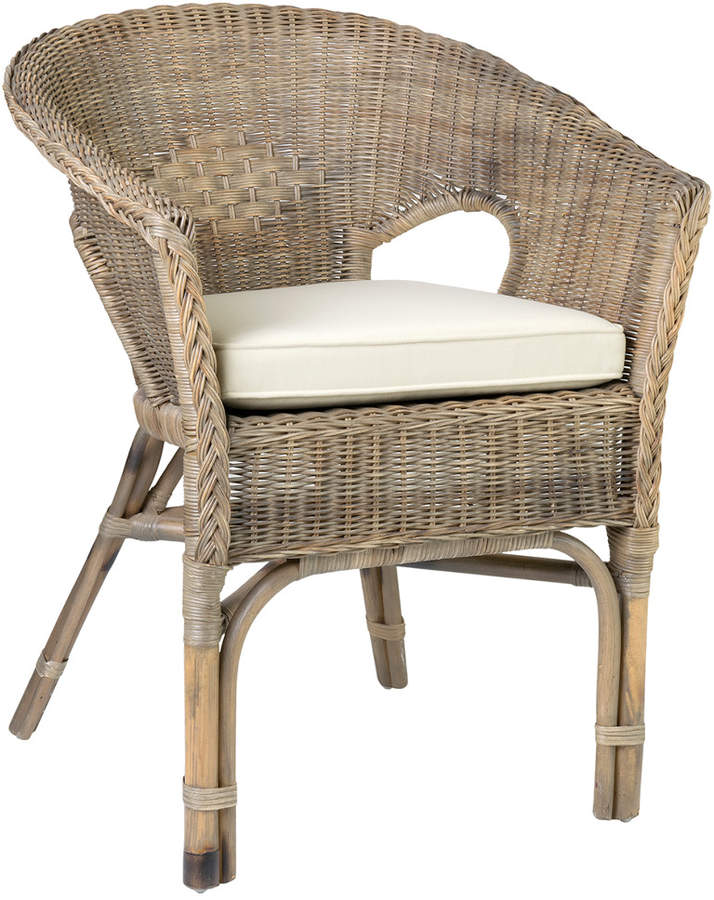 East At Main S Collins Rattan Accent Chair Patio Dining Chairs