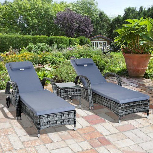 Incredible Sol 72 Outdoor Berkhamsted Reclining Sun Lounger Set With Cjindustries Chair Design For Home Cjindustriesco