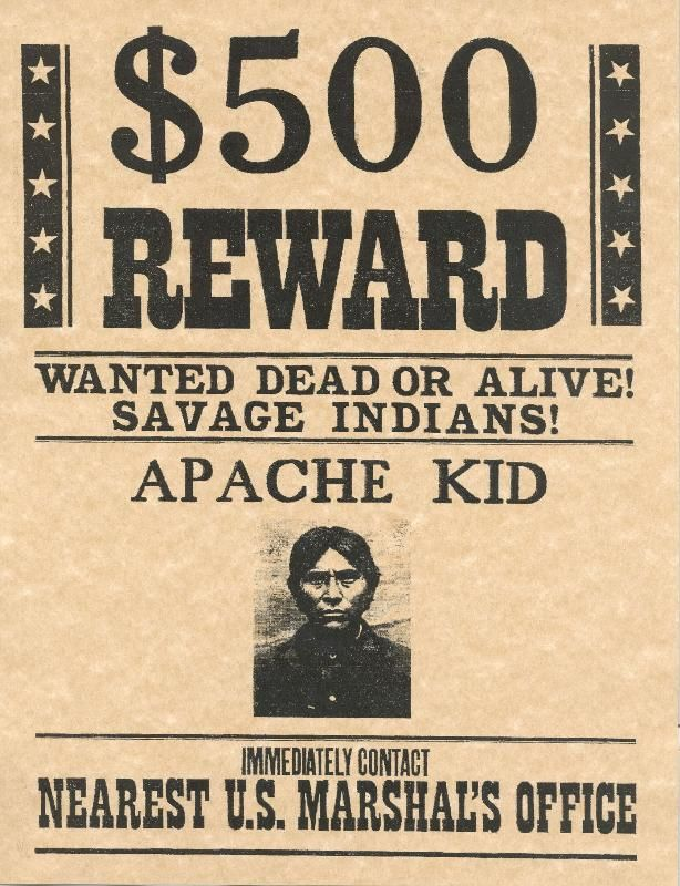 Kid old west w... Real West Wanted Posters ... | Indians and ...
