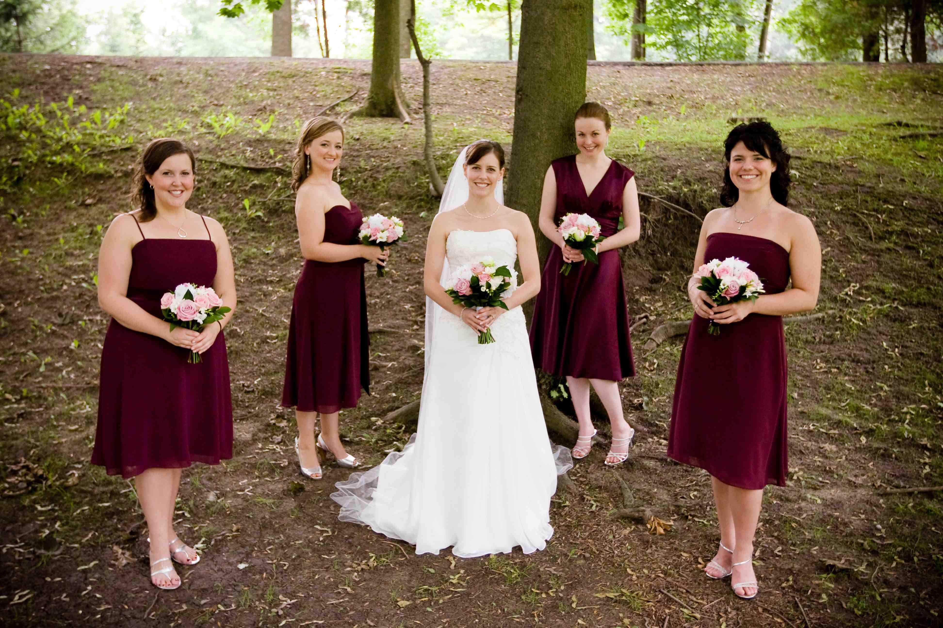 bridesmaid fall wedding colors bridesmaid dresses - Fall Colored Bridesmaid Dresses